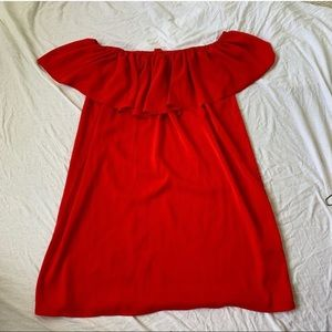 Forever 21 Red Off The Shoulders Dress
